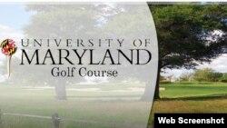 Campo de golf de la Universidad de Maryland.