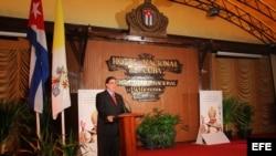 Canciller cubano, Bruno Rodríguez, en conferencia de prensa sobre visita del Papa Benedicto XVI a Cuba