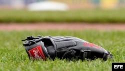 Foto de un guante de béisbol.