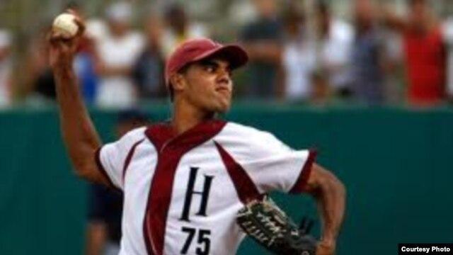 El lanzador cubano MIguel Alfredo González, cuando jugaba por el Habana en las series nacionales cubanas.