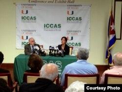 Rosa María Payá en Conferencia de Prensa