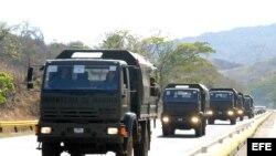 Tropas de la Brigada 416 de Venezuela.
