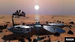 El objetivo de la nave era tomar muestras de la superficie y atmósfera del planeta rojo.