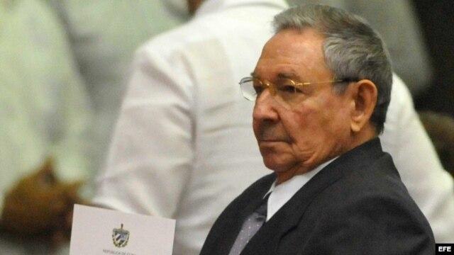 Raúl Castro en la Asamblea Nacional.