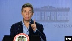 Fotografía cedida por Presidencia de Colombia que muestra al presidente colombiano, Juan Manuel Santos.