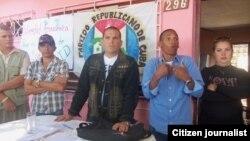 Reporta Cuba. Activistas del PRC en Pinar del Río. Foto: Yelky Puig.
