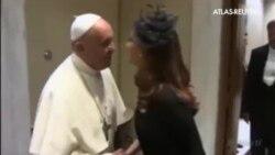 El papa Francisco recibe a la presidenta argentina