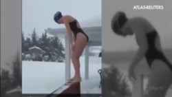 Las nevadas en EE.UU dejan imágenes inéditas este fin de semana