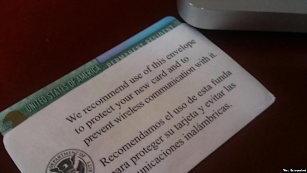 Residencia permanente en EEUU.