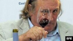 Archivo Gerard Depardieu en la presentación de vinos '2006 Anjou AOC Vieilles Vignes'.