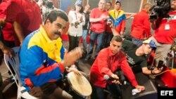 El presidente de Venezuela Nicolás Maduro durante un acto de su campaña en Puerto Ordaz. Foto de archivo