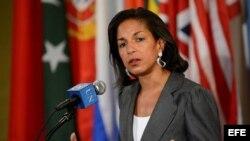 Fotografía de archivo de la actual embajadora de EE.UU. ante la ONU, Susan Rice.