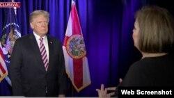 El presidente de Estados Unidos Donald Trump concedió entrevista exclusiva a la periodista Ninoska Pérez, de Univisión Radio.
