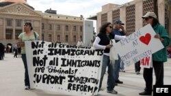 Manifestación a favor de la inmigración