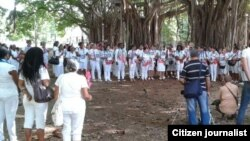 Reporta Cuba. Damas de Blanco, La Habana. Foto: Ángel Moya.