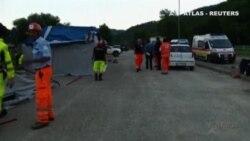 Los servicios de emergencia italianos siguen trabajando en la zona de la catástrofe