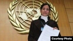 Rosa María Payá, en una foto tomada del blog del MCL.