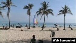La playa de Guanabo.