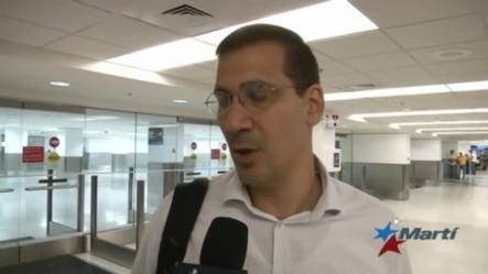 Opositor cubano llega a Miami tras meses de prohibición de salida del país