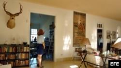 Interior del museo Finca Vigía, antigua residencia habanera del escritor norteamericano Ernest Hemingway.