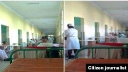Salas de ingreso en Santiago de Cuba Pacientes con cólera julio 2014. Foto Ridel Brea.