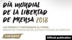 25ª edición del Día Mundial de la Libertad de Prensa. Tomado de la UNESCO.