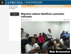 La noticia en el Diario La Prensa de Nicaragua.
