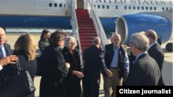 Llegada de Alan Gros a Estados Unidos. Foto tomada de Twitter.