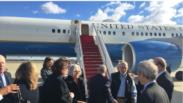 Llegada de Alan Gross a Estados Unidos. Foto tomada de Twitter.