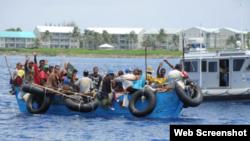 Refugiados cubanos hacen escalas en Islas Cayman