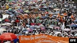 Marcha por la paz en Bogotá.