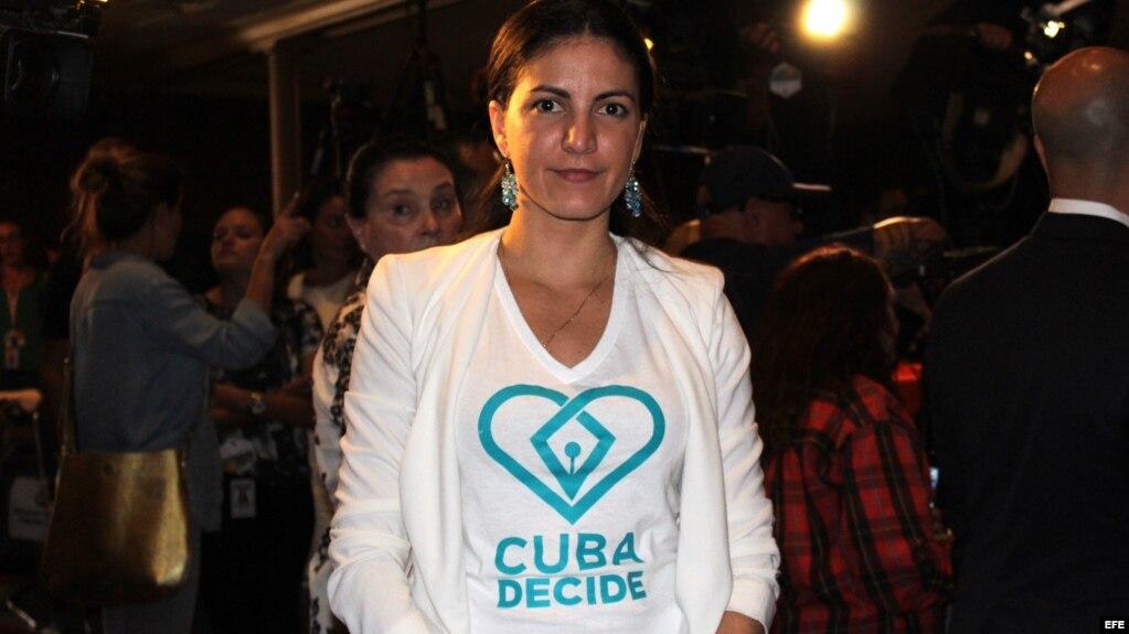 La disidente cubana Rosa María Payá.