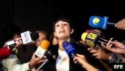 Patricia Gutiérrez de Ceballos, esposa del opositor Daniel Ceballos.
