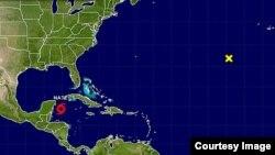 Foto de la tormenta tropical Nate, cortesía del Centro Nacional de Huracanes de EEUU.