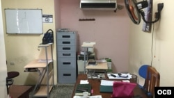 Sede de Cubalex, con oficina sin computadoreas.