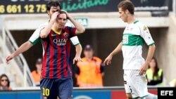 El delantero argentino del FC Barcelona Lionel Messi