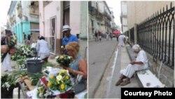 Venta de flores y objetos religiosos. (Foto: Lázaro Yuri Valle)