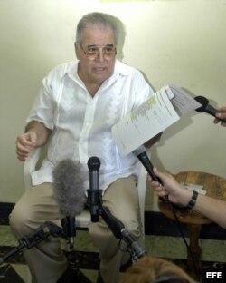 El disidente cubano Elizardo Sánchez, de la Comisión Cubana de Derechos Humanos y Reconciliación Nacional.