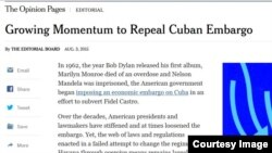 "Editorial de ""The New York Times"" del 3 de agosto."
