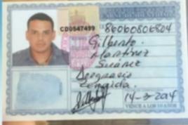 Carnet de Identidad expedido en Cuba a Gilberto Martínez Suárez en marzo del 2014