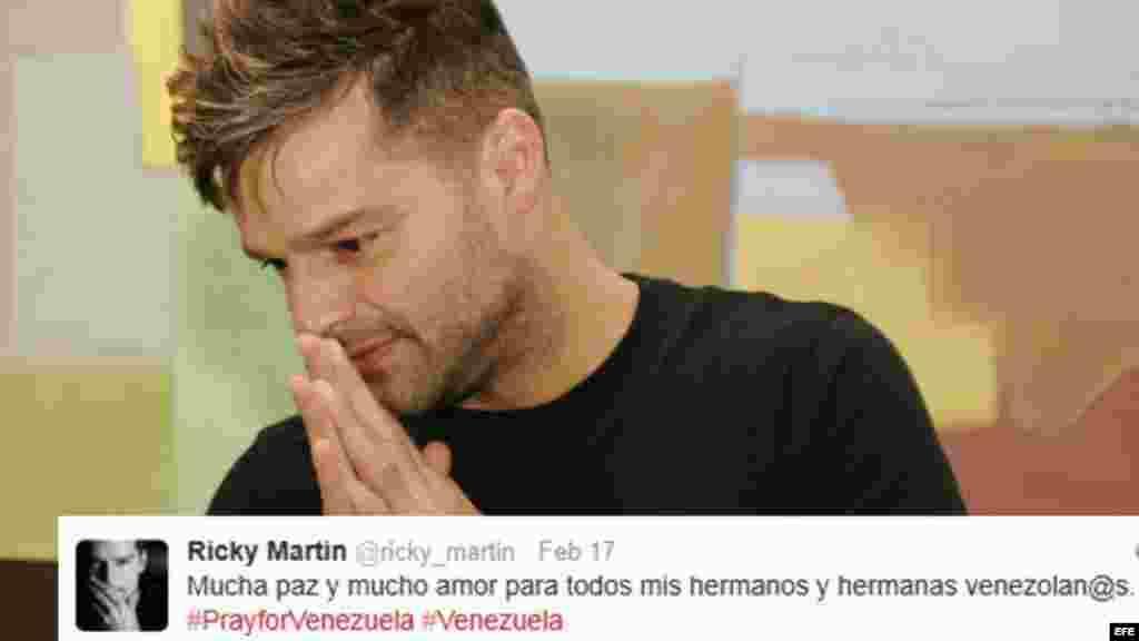 """En rueda de prensa desde Viña del Mar, Ricky Martin se pronunció sobre la situación del país. """"SOS Venezuela, ni una gota de sangre más, estoy con ustedes"""", dijo el cantante."""