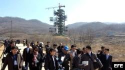 Foto de archivo de instalaciones coheteriles norcoreanas