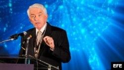 El presidente de la Cámara de Comercio de los Estados Unidos Thomas J. Donohue habla en una conferencia en Washington, DC.