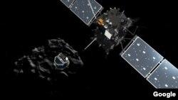 Rosetta poco antes de separarse del módulo. Foto: ESA.