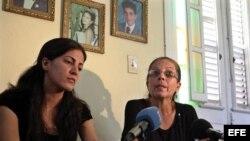 Familia Payá durante una rueda de prensa en Habana, Cuba