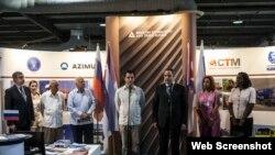Salvador Pardo Cruz, ministro cubano de Industrias y su homólogo ruso Georgy Kalamanov.