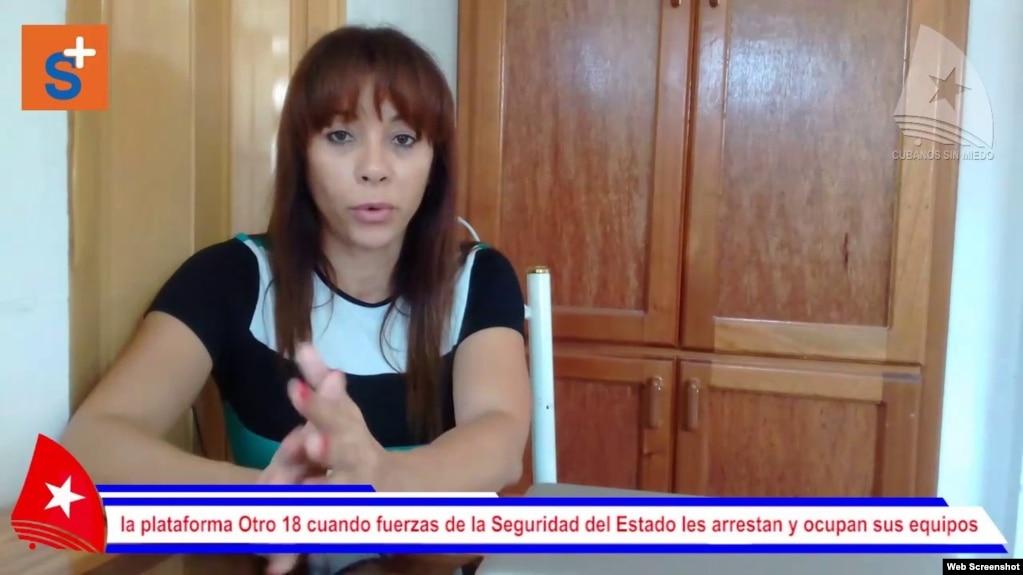La periodista independiente y activista cubana Iliana Hernández. (YouTube)