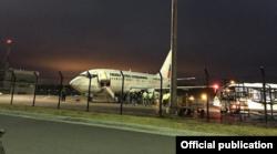 Boeing 737 de la Fuerza Aérea Ecuatoriana (FAE) que transportó a los cubanos.