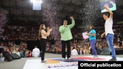 Maduro en el acto de campaña.
