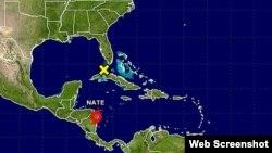 Ciclón tropical Nate deja mucha lluvia en parte de Centroamérica.